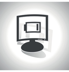 Curved low energy monitor icon vector