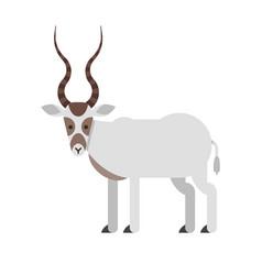 Desert addax antelope vector