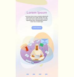 Distance work online landing page template vector