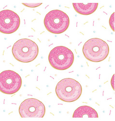 donut isolated on white background donut icon in vector image