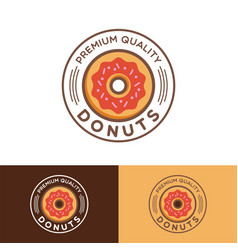 donuts logo design template vector image