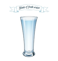 EPS 10 A glass of fresh clear water vector