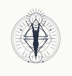 Esoteric mystical symbols vector