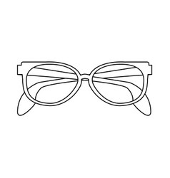 executive glasses isolated black and white vector image