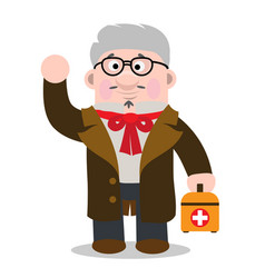 family doctor at work different professions and vector image