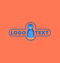 Flat icon on background penguin logo vector