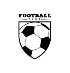 football club badge ball logo design image vector image