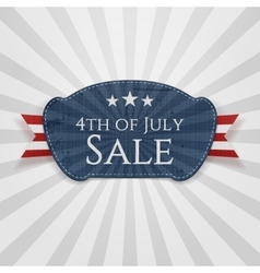 Fourth july sale badge vector