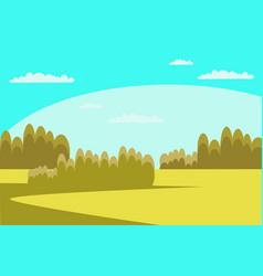green field flat vector image