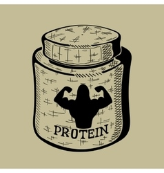 Hand drawn bank with Protein Sport Nutrition vector image