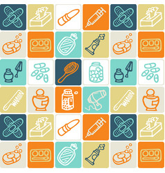hand drawn icons set - household 5 vector image