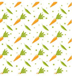 healthy food pattern on white background vector image