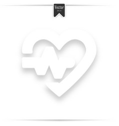 heartbeat icon on white background vector image