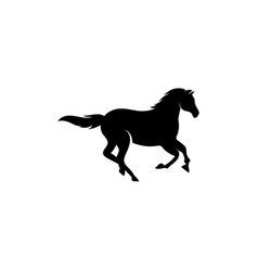horse running icon design template isolated vector image