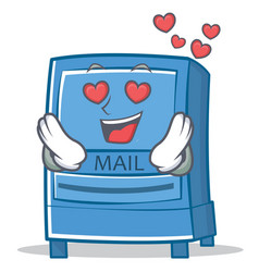 in love mailbox character cartoon style vector image