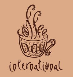 International coffee day food event concept vector