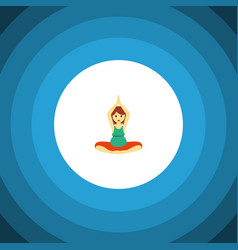 isolated meditation flat icon yoga element vector image