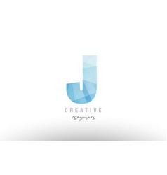 J blue polygonal alphabet letter logo icon design vector