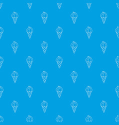 lemon ice cream pattern seamless blue vector image