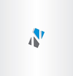 Letter n rectangle logo sign vector
