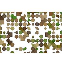 Line or shape digital color generative decoration vector