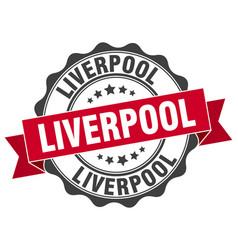 Liverpool round ribbon seal vector
