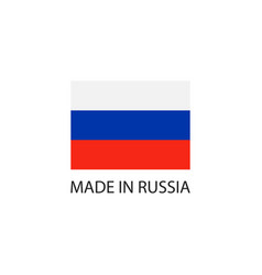 made in russia sign icon vector image