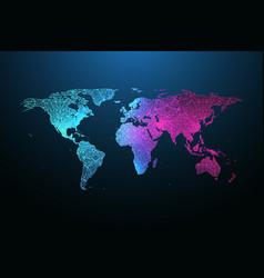 map planet global social network floating vector image