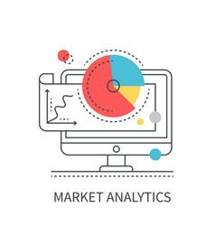 market analytics concept vector image
