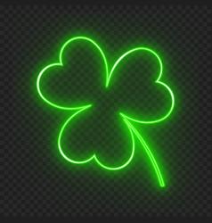 Neon leaf clover vector