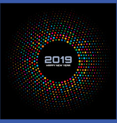 new year 2019 card background vector image