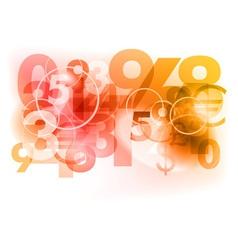 Number background vector