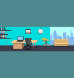 Office interior web banners in flat design vector