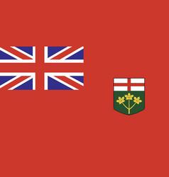 Ontario flag vector