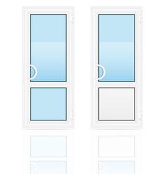plastic doors 01 vector image