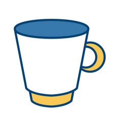 porcelain mug isolated vector image