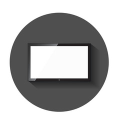 Realistic tv icon television symbol for website vector