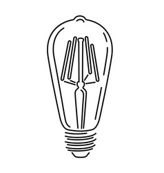 Retro watt bulbs light lamp vintage outline logo vector