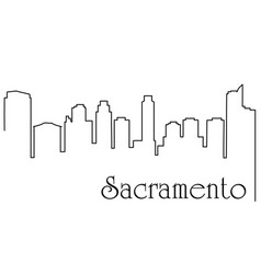 sacramento city one line drawing vector image