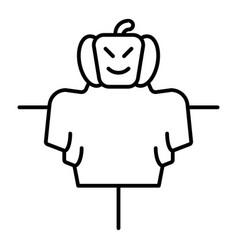 Scarecrow thin line icon jackstraw web vector