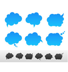 Set of speech and thought bubble shapes vector