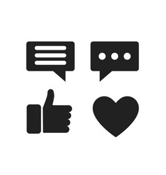 set social media icon web communication icons vector image