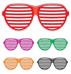 Shutter shades sun glasses collection vector