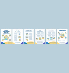 Skills assessment center brochure template layout vector