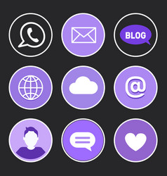 social networking icons set vector image