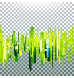 Straight green lines vector image