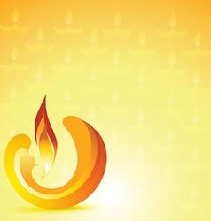 stylish diwali diya background vector image