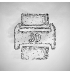 three d printer icon vector image vector image