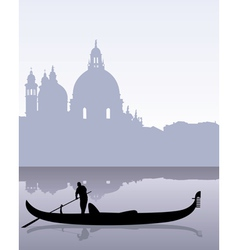Venetian gondola vector