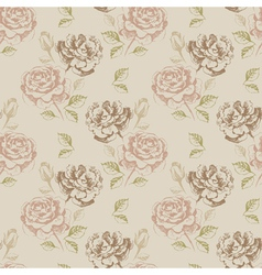 Vintage seamless floral vector